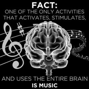 PHOTO Quote BRAIN Music activates entire brain