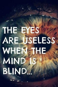 PHoto Quote The eyes are useless when the mind is blind