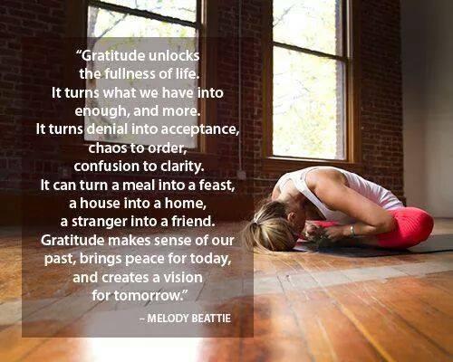 PHOTO Gratitude quote