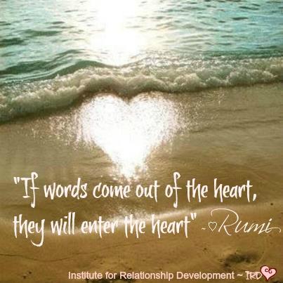 Heart Rumi words